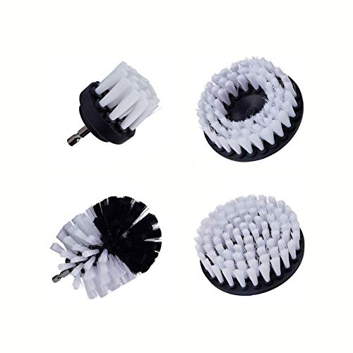 LSANS 3/4 / 5 unids Power Scrub Cepillo Limpio para Cuero plástico Muebles de Madera Interiores de automóviles Limpieza Power Scrub 2/3.5/4 / 5inch (Color : 4Pcs)