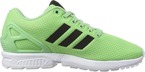 Adidas Zx Flux, Scarpe da Corsa Unisex Adulto, Verde (Super Green F15/Core Black/Ftwr White), 36.5