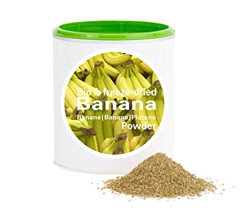 Plátano en Polvo - Liofilizado biológico vegano crudo pura fruta no aditivo rica en vitamina Good Nutritions 120g