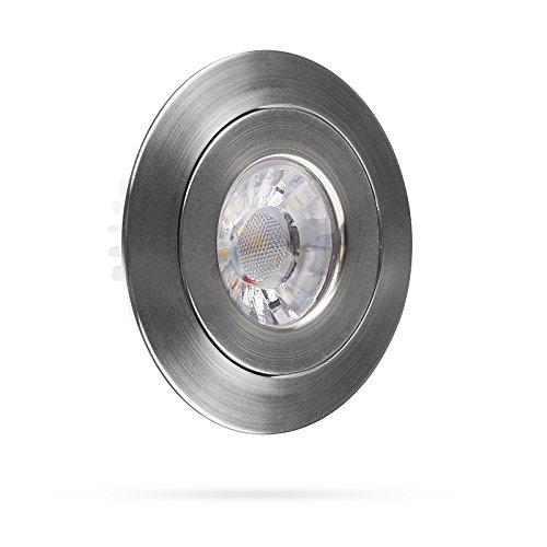 Preisvergleich Produktbild Smartwares LED Einbauspot mit Dimmfunktion,  7, 5 cm Durchmesser,  350 lm,  Chrom,  4.5 W,  Silber,  3, 5 x 9 x 9 cm