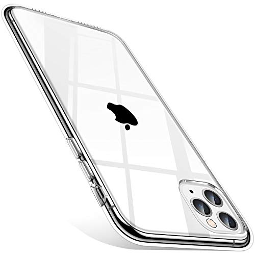 Meifigno Compatible with iPhone 11 Pro Max Case, [Military + Green Dual Certified][Never Yellow], Hard PC with Soft Edges Hybrid Case Designed for iPhone 11 Pro Max 6.5 Inch (2019) - Crystal Clear