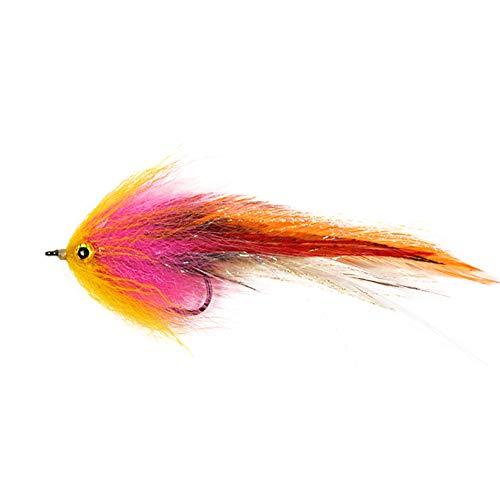 XQxiqi689sy Federscharfer Haken für Forellen, Lachs, Stahlkopf, Hechtschlangen, Fliegenfischen, Fliegen Werkzeug Einheitsgröße einfarbig