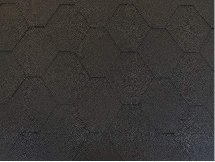 Isolbau Dachschindeln Hexagonal Dreieck Form 3 m² Schwarz (22 Stk) Schindeln Dachpappe Biberschindeln Bitumenschindeln Gartenhaus Vogelhaus Holz Kaninchenstall Betonsäulenüberdeckung Hundehütte
