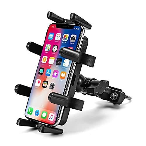NAINAIWANG Soporte Movil Bicicleta Metalizado Fácil instalación Operación con una Mano Celular para Bicicleta con Barra de Mano para Motocicleta Robusto y Estable 4.5-6.5 Pulgadas