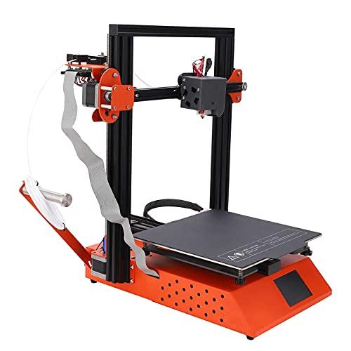 Impresora 3D de alta precisión, diseño de cama caliente de grano Impresora 3D Larga vida útil para empresas(Estándar europeo 250V, rosado)