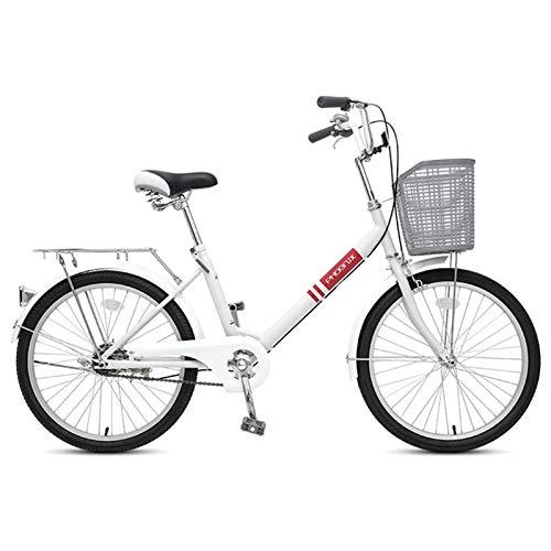 Axdwfd Infantiles Bicicletas Bicicleta De Montaña De 20 Pulgadas, Niños Y Niñas Montando Bicicletas, Adecuado para Niños De 9 A 14 Años, Azul, Blanco, Amarillo (Color : White)