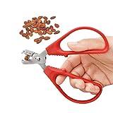 NBZLY Abrebotellas de castaño de Acero Inoxidable, Duradero, antioxidante, no se deforma y oxida fácilmente, Utensilios de Cocina, adecuados para Semillas, piñones, Cacahuetes, etc.