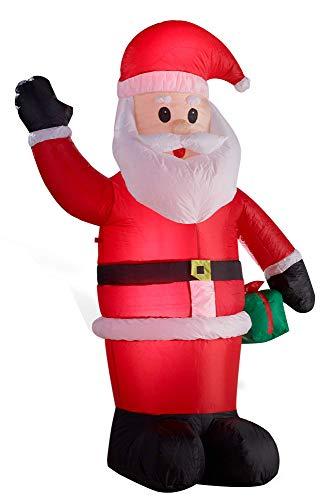 Gartenpirat Babbo Natale Gonfiabile Illuminato LED Altezza di 180 Centimetri