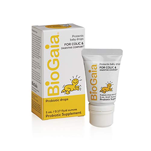 BioGaia Protectis Probiotics Drops for Baby, Infants, Newborn and Kids Colic, Spit-Up, Constipation and Digestive Comfort, 5 ML, 0.17 oz, 1 Pack