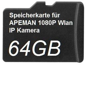 64 GB DSP geheugenkaart voor Apeman 1080P WLAN IP-camera
