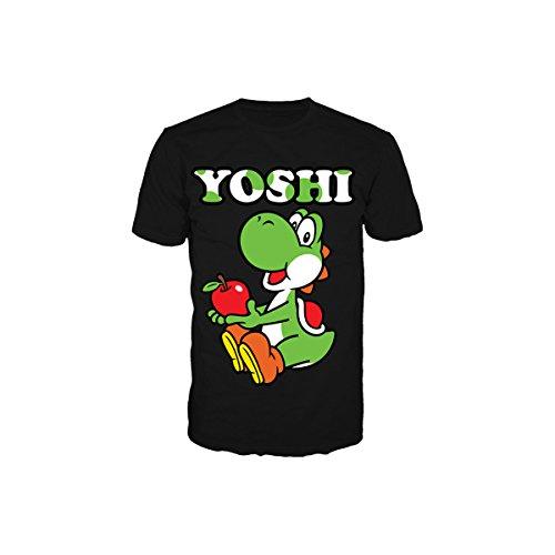 SUPER MARIO BROS - T-Shirt Yoshi Black (M)