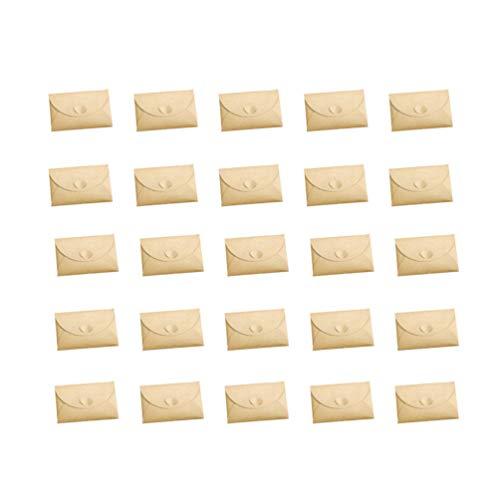 Healifty Sobres de Papel Kraft Invitación de Papel Kraft Cierre de Corazón Tarjetero Sobres de Papel para Bodas Graduaciones Baby Showers Fiestas 100Pcs (6X10cm)