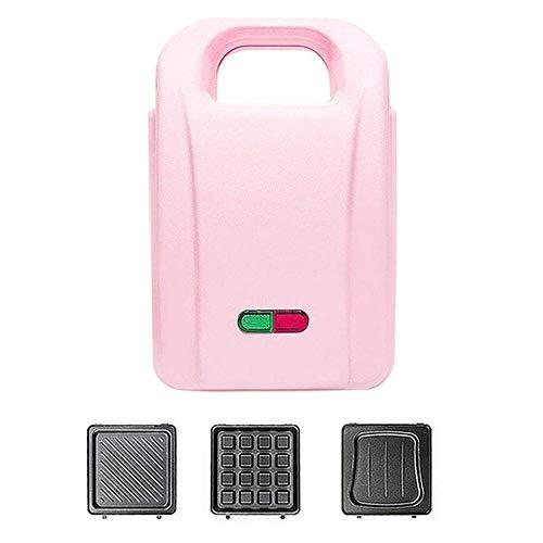 GCE Gaufrier Mini Machine électrique portative de gaufrier de ménage de Plaque chauffante Ronde électrique avec indicateur Lumineux pour crêpes Individuelles - Plaques Amovibles pour gaufrier à