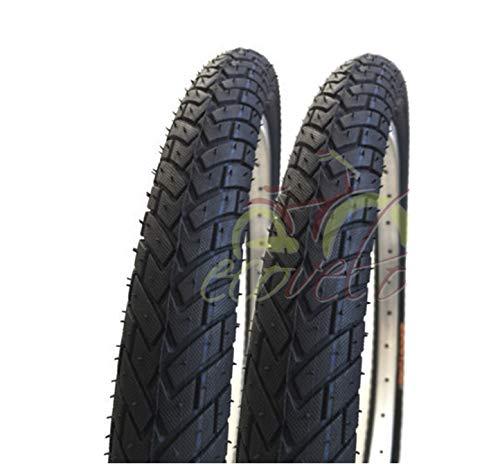 ECOVELO 2 Copertoni 20 x 1.95 (54-406) per BMX, City Bike, Bambino | Pneumatico Stradale Nero in Gomma Bike Bicicletta