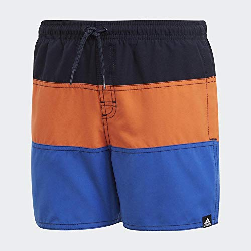 adidas Jungen YB CB SH SL Swimsuit, Legend Ink/True orange/True Blue, 7-8A