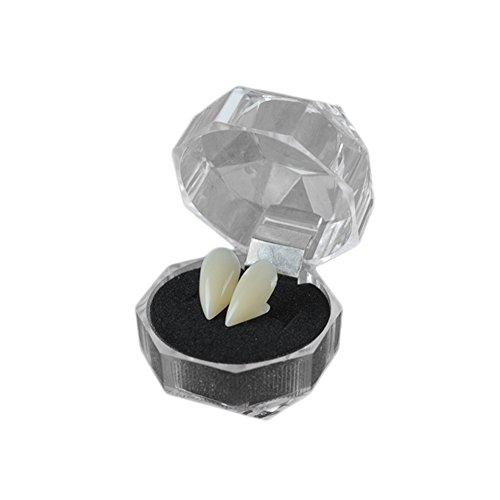 Demarkt Halloween Zähne Vampirzähne Zahnersatz für Party Halloween Halloween Rollenspiele Kostüm Zubehör Weiß 15mm