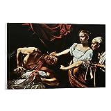 DHNBHJUGY Póster pintado HD – 【Judith Decapitación Holofernes】 Caravaggio Lienzo artístico y arte de pared Impresión moderna para dormitorio familiar Pósters 30 x 45 cm