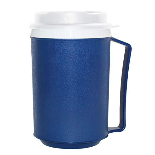Rehabilitation Advantage Weighted Insulated Mug with Tumbler Lid (12oz), Blue