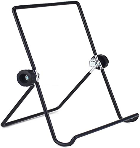 zyh E-Metal Recipe Book,Book Reading Stand For Cookbook Recipe,Multi Purpose Adjustable Iron Display Stand Tablet(1 Item)