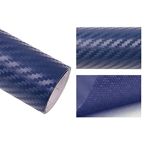 152/127cmx10cm 20 cm 3D Fibra de Carbono Vinyl Wrap Wrap Wrap Wrap Roll Pegatina Coche Calcomanías Motocicletas Coche Estilo Interior DIY (Color Name : Blue, Size : 152cmx10cm)