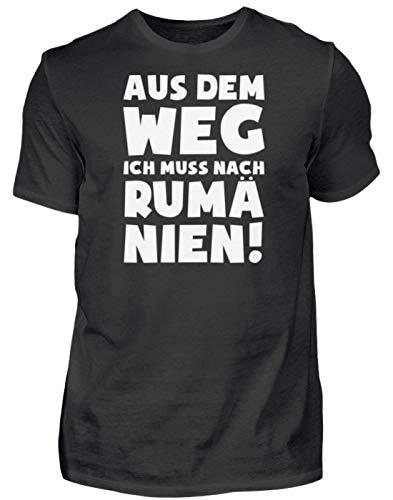 Romania: Muss nach Rumänien! - Herren Shirt -S-Schwarz