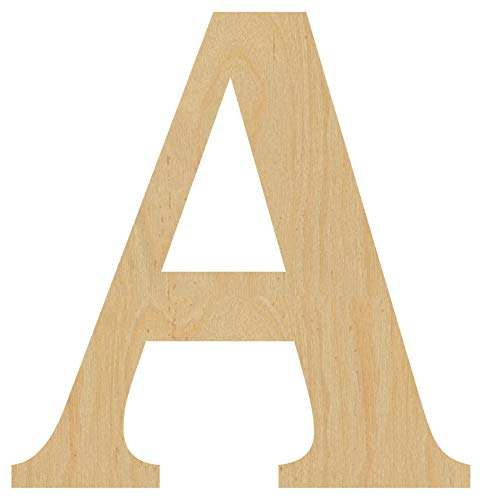 Wooden Letter A. 4' Tall x 3-7/8' Wide x 1/4' Thick - Cut from Birch Plywood, Ready for Painting or Decorating. for Home Decor, Office Signs, or Party Decorations.
