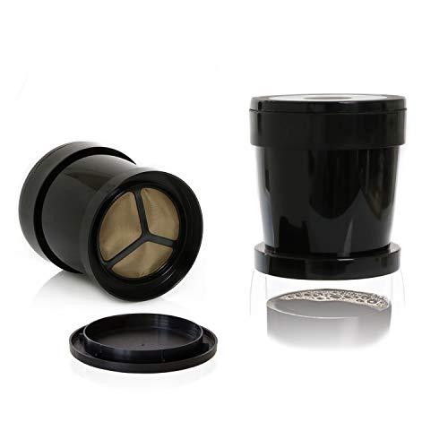 Finum COFFEE SPRINTER Kaffee Dauerfilter - Kaffeefilter für eine Tasse - Permanentfilter mit Gewebe aus Edelstahl - Eintassenfilter für die Reise und für Zuhause