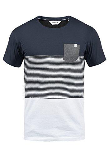 !Solid Malte Herren T-Shirt Kurzarm Shirt Mit Streifen Und Rundhals, Größe:XL, Farbe:Insignia Blue (1991)