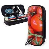 Estuche de color rojo cereza para tomates y verduras para niños y niñas, estuche grande para lápices y bolígrafos, para estudiantes, universidad, suministros escolares y oficina