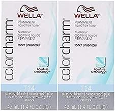 Color Charm T14 Pale Ash Blonde Liquid Permanent Hair Toner (2 pcs)
