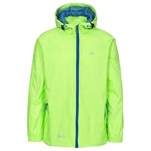 Trespass Kinder Kompakt Zusammenrollbare Wasserdichte Regenjacke Qikpac Jacket, Green Gecko, 9/10, UCJKRAI10003_GGK9/10