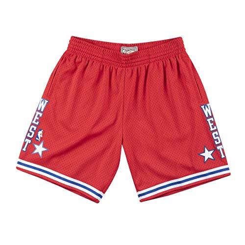 Mitchell & Ness 1988 NBA All-Star Game West Swingman - Pantalón corto, color rojo, rojo, small