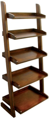 Furniture of America Portio Bookcase/Storage Cabinet, Antique Oak
