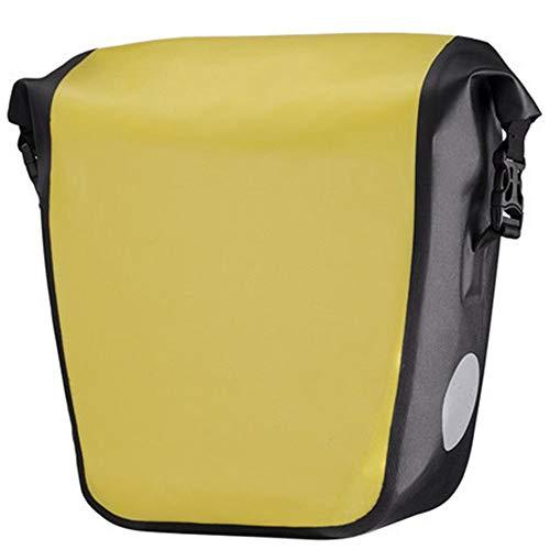 DHTOMC Fahrrad-Kamel-Tasche wasserdichte Fahrradtasche Aufrollbare Fahrradhintertasche Radfahren Umhängetasche Gelb Schwarz Trinkrucksäcke (Color : Black, Size : 28x30x14cm)