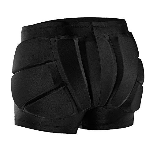 yorten Pantalones Cortos de Patinaje artístico 3D para Niños - Proteger la Cadera, la Cola y el Trasero para Patinar y Esquí y Snowboard (Talla L)