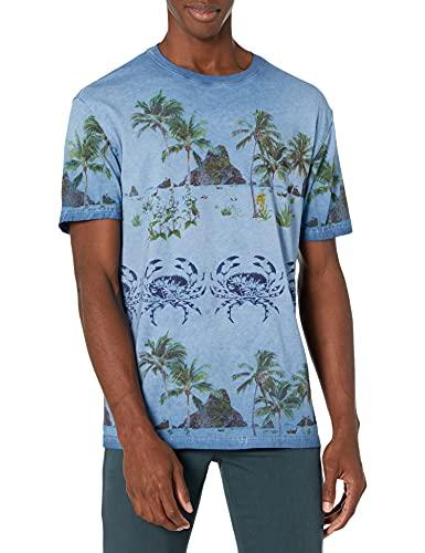 Desigual TS_Victor Camiseta, Negro, L para Hombre