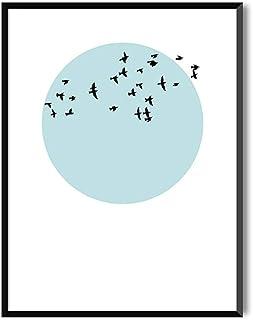 Affiches Décoratives pour encadrer en tableau | Oiseaux, Style Nordique Relaxant | BIRDS AT SUNSET | Flying in the Sky | P...