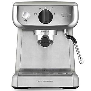 Breville Mini VCF125X - Barista máquina de café expreso, totalmente automática con espumador de leche al vapor y bomba italiana de 15 bares