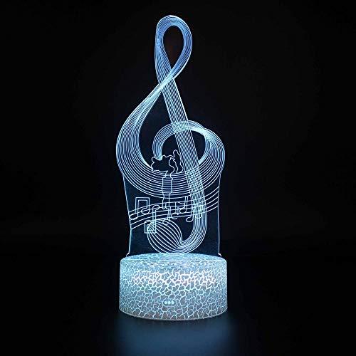 Lámpara de ilusión 3D con luz de estado de ánimo, 7 colores que cambian de acrílico, luz de noche, cables USB, decoración de escritorio, regalo de Navidad
