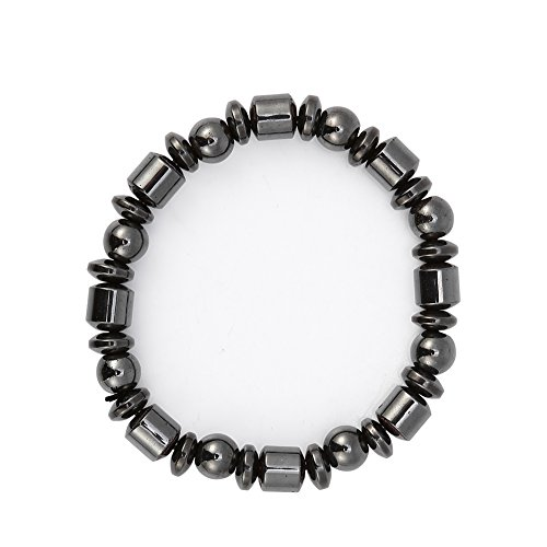 Unisex-Magnetarmband, stilvoll, schwarzes Stein-Armband, Magnetfeldtherapie-Armband, Gesundheitspflege-Armband für Männer und Frauen