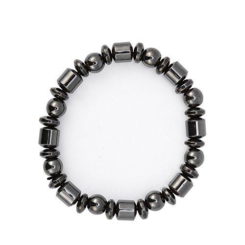 Zwarte magneet armband, uniseks stijlvolle magnetische toermalijn zwart steen armband, gezondheidszorg magnetische armband vrouwen mannen geschenken voor ouders vrienden