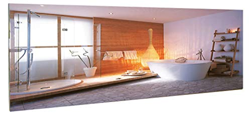 insidehome | Infrarotheizung Spiegel CLASSIC S | rahmenlos | hochwertige Spiegelheizung | optional ergänzbar mit Standbügeln | 1200 Watt (184x64x2,5 cm)