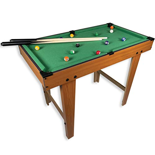 "31"" Standing or Table Top Pool Table for Adults or Kids with Waist Height Legs and Complete Billard Game Set by Mammoth"