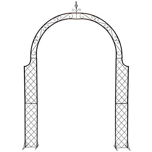 S-AIM Puertas de Arco de jardín de Metal, cenador al Aire Libre para Enredaderas y Plantas, decoración de Bodas para quinceañeras
