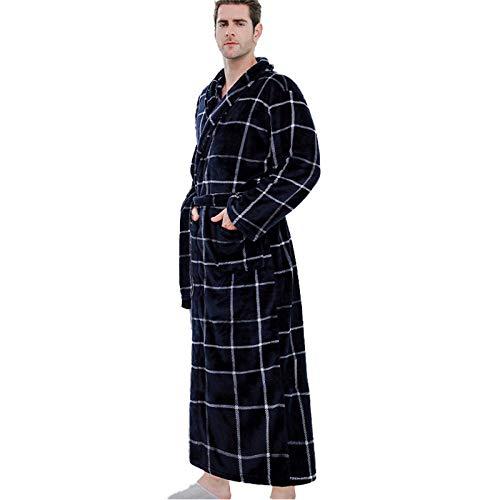 Conjunto de Pijama Grueso para el hogar para Hombre, Conjunto de Albornoz Masculino, cárdigan Estampado, Ropa de Dormir de Manga Larga, 3_XL_