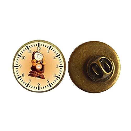 Broche de cristal de dibujos animados de anime, reloj de tecnología regalo de cumpleaños, regalo para hombres, marido regalo para hombres, joyería PU158