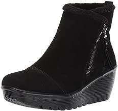 Skechers Women's Parallel-Off Hours Fashion Boot, Black/Black, 8 M US
