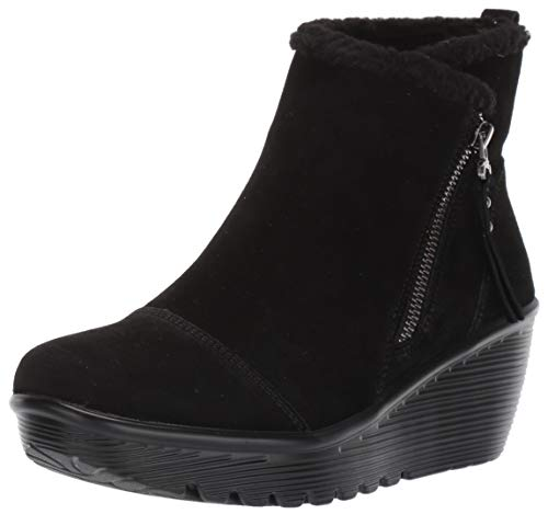 Skechers Damen Parallel - Off Hours Stiefelette, Black Suede/Faux Sherpa, 37 EU