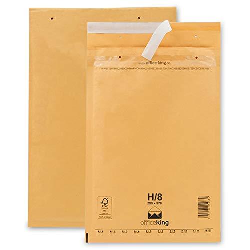 OfficeKing Luftpolstertaschen reißfest 50 Stk Braun H/8 | 290 x 370mm DIN B4
