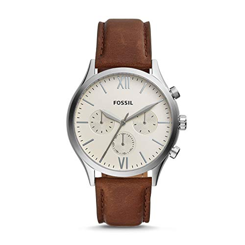 Fossil Fenmore Multifunction Off-White Dial Men's Watch -BQ2363